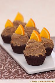 Nóri's ingenious cooking: Chocolate cupcakes with chestnut & orange frosting
