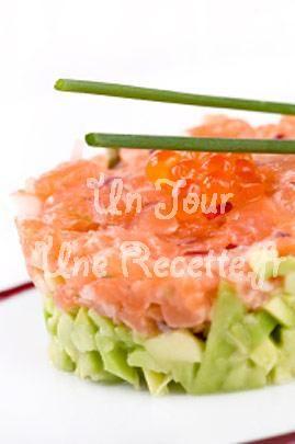 Tartare+de+saumon+et+d'avocat, la recette facile et rapide