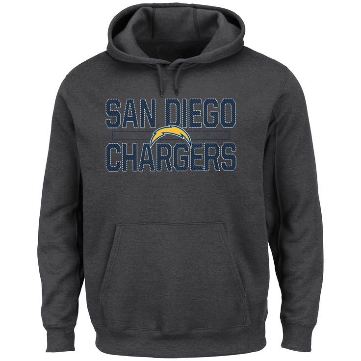 San Diego Chargers Majestic Big & Tall Kick Return Pullover Hoodie - Charcoal - $51.99