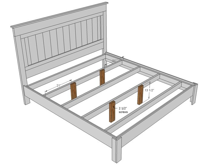 Diy King Size Platform Bed You Ll Need Additional Support For A