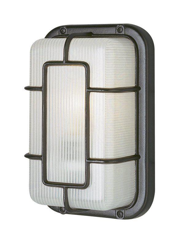 Hinshaw 1-Light Outdoor Bulkhead Light with Price : $ 26.99