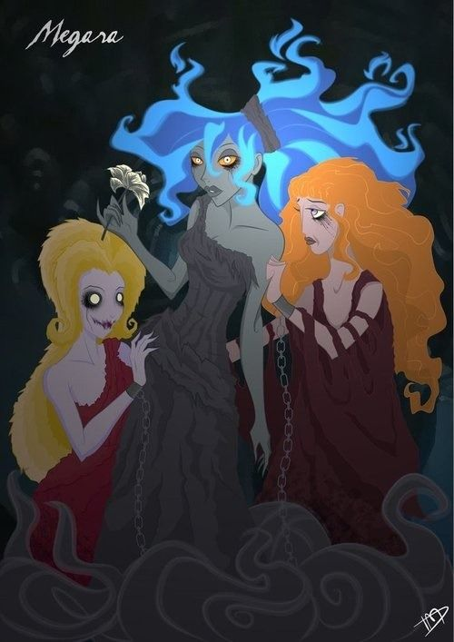 Creepy Disney Princess Megara. Hercules. Devianart