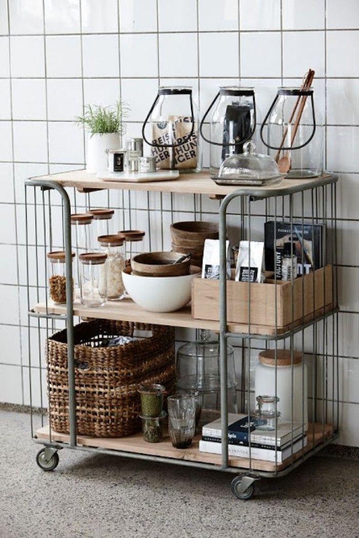 Apothekerskast Keuken Zelf Maken : Industrieel interieur, industri?le metalen kast trolley eetkamer