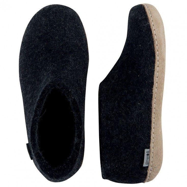 Glerups Felt House Shoe - Charcoal