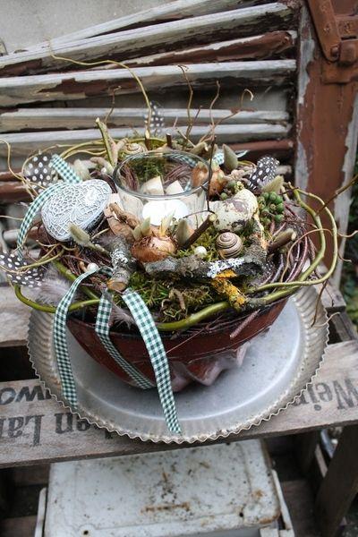 Backen mit Herz - Tischdekoration von Frijda im Garten - Aus einer Idee wurde Leidenschaft auf DaWanda.com