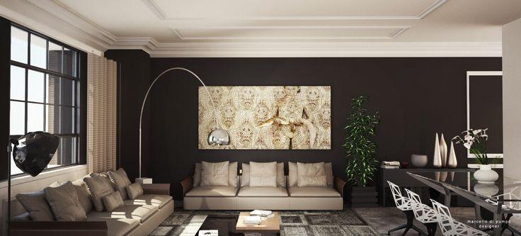 interior design - loft - living room -