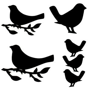 Art Stencil Template Bird on a Branch | Stamp | Pinterest | Stencils, Templates and Stencil templates