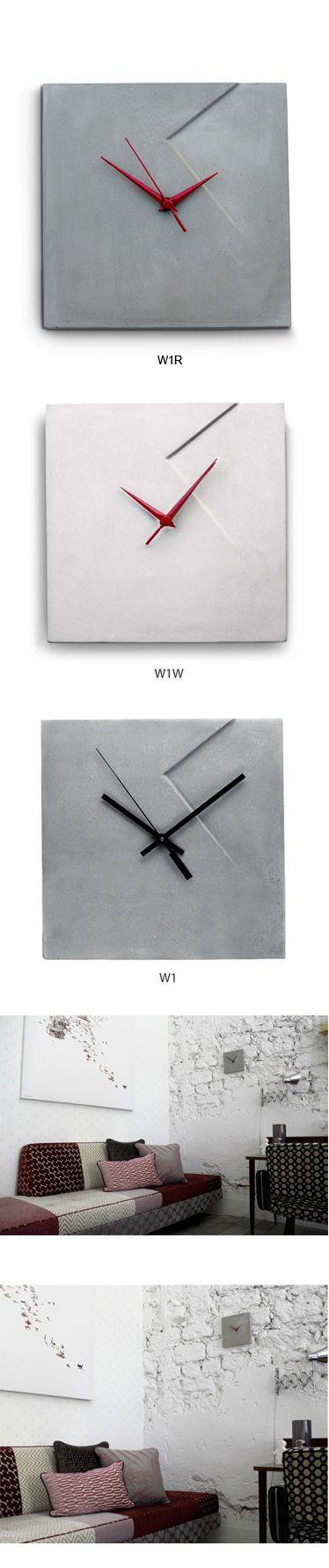 Imprint Concrete Wall Clock (W1, W1W)