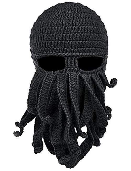 ed96751c88c Beard Hat Beanie Hat Knit Hat Winter Warm Octopus Hat Windproof Funny For  Men   Women  HatsForWomenFunny