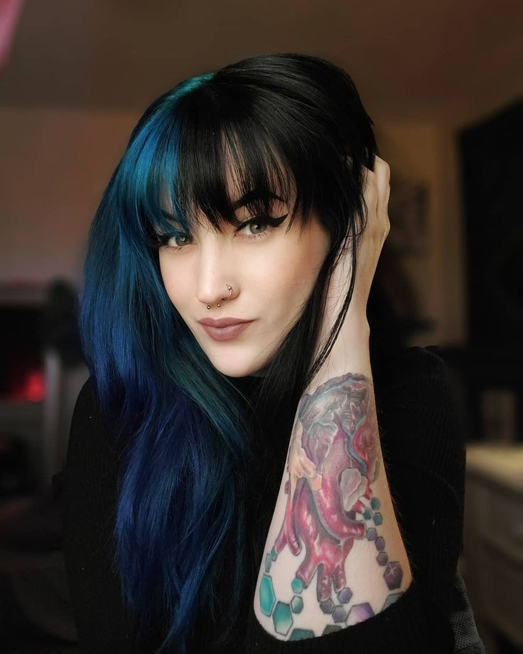 Try Something New With These Women Alternative Hair That Are Trending Stylendesigns In 2020 Hair Inspo Color Split Dyed Hair Alternative Hair