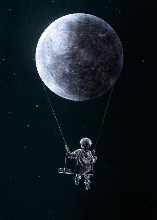 Swinging on the moon