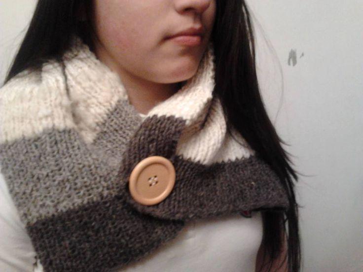 cuello de lana natural