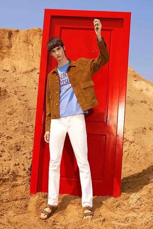 メゾン キツネ 2016年春夏メンズコレクション - パリジャンの冒険、砂漠に栄えるミニマルな装い | ニュース - ファッションプレス