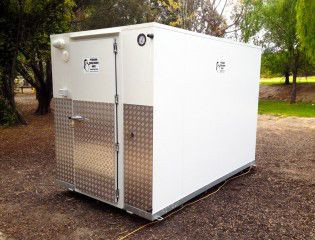 Mobile coolroom are available in various types which best suites according to the place of the usage.