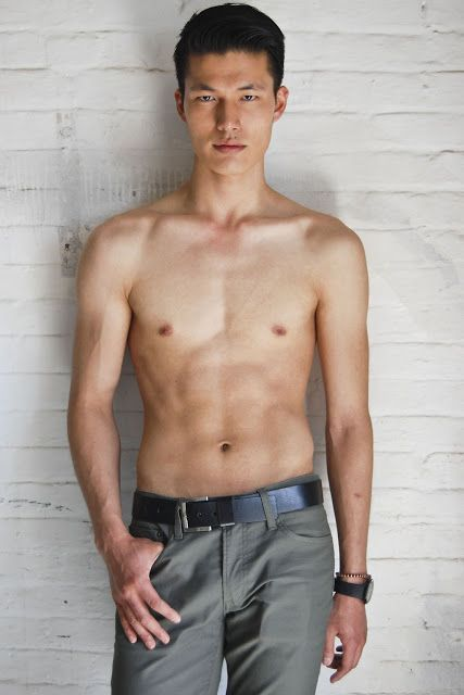 Not absolutely Asian male model dimples