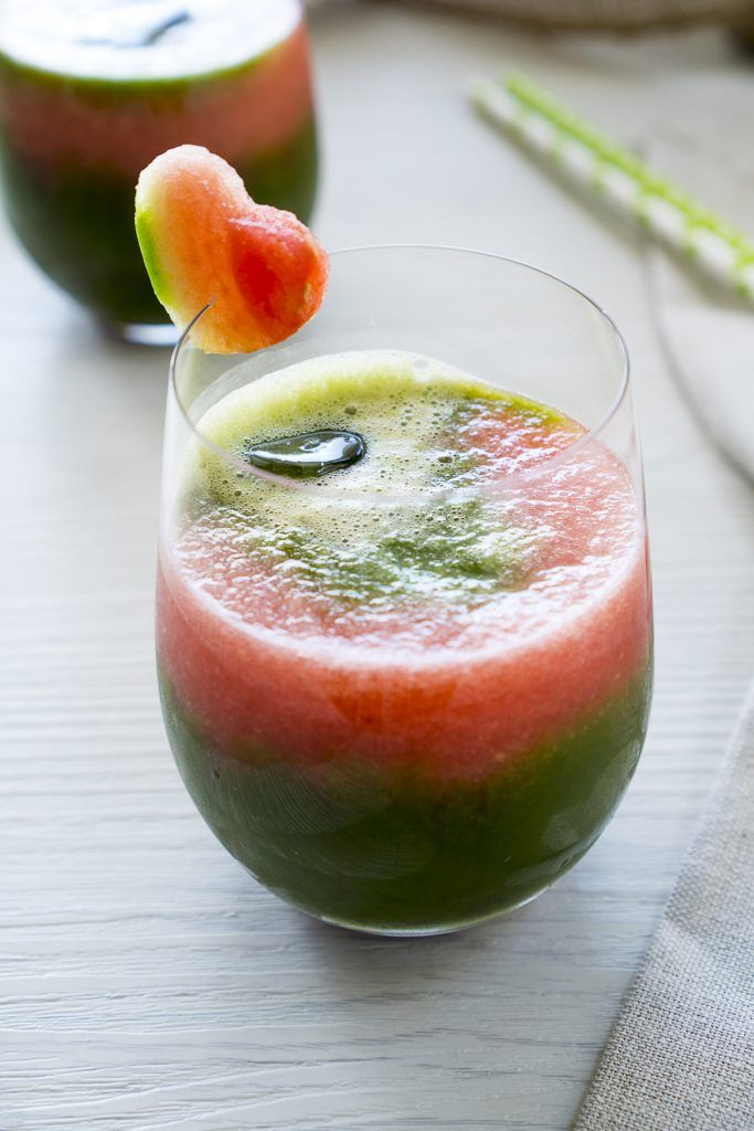 Watermelon Matcha Green Tea Slushie  Recipe at https://www.thegreenteadetox.com/thirst-quenching-iced-matcha-recipe/