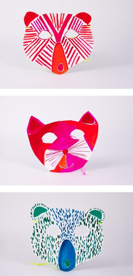 Love these colorful animal masks!