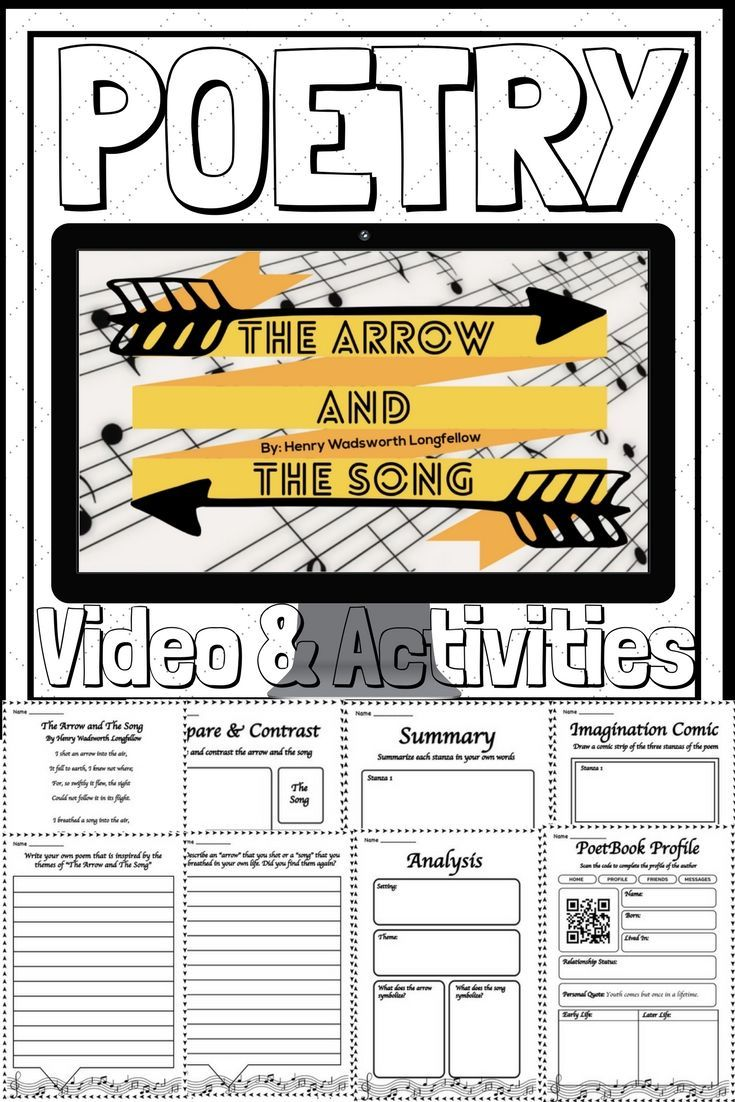 Ela Poetry The Arrow And The Song By Video Activities