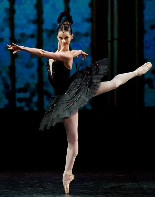 Anastasia Kolegova in the Black Swan Pas de Deux.  Photo by Stas Levshin.