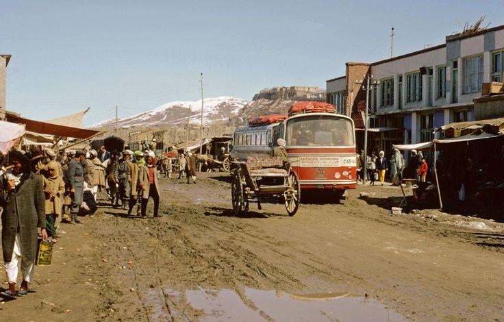 Overland coaches in the muddy main street of Ghazni, Afghanistan 1970  https://www.amazon.com/s/ref=nb_sb_ss_c_3_12?url=search-alias%3Ddigital-text&field-keywords=neil+rawlins&sprefix=Neil+Rawlins,stripbooks,298