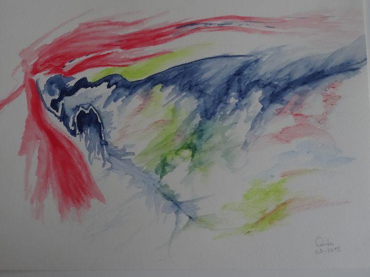 mêler l'esthétisme et l'imagination dans l'expression de ses émotions - aquarelle