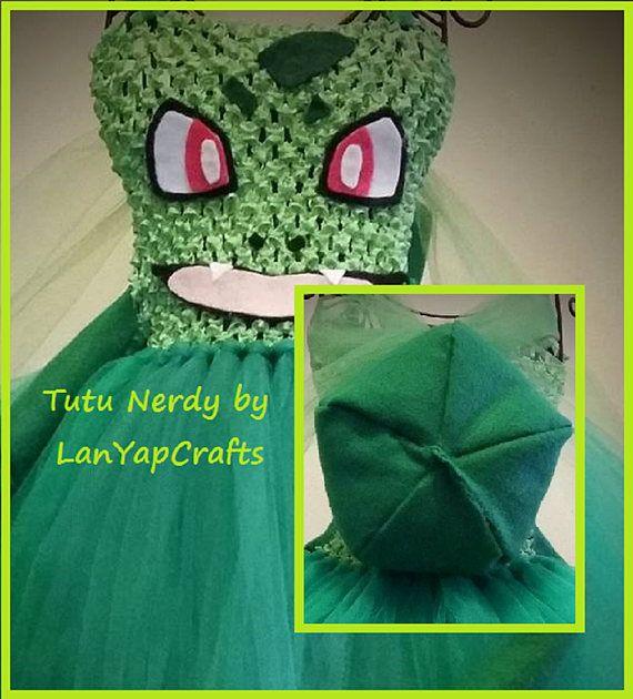 Bulbasaur tutu dress from LanYapCrafts is Tutu Nerdy!  https://www.etsy.com/listing/453633944/grass-type-bulb-vine-whip-pocket-monster