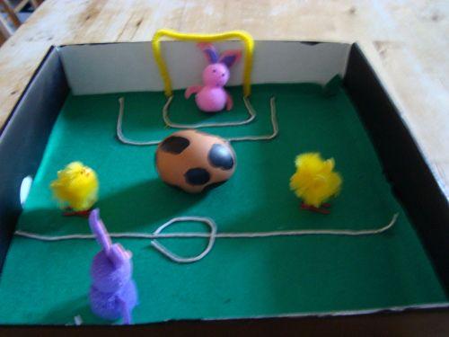 Easy Football Scene For School S Easter Egg Decorating