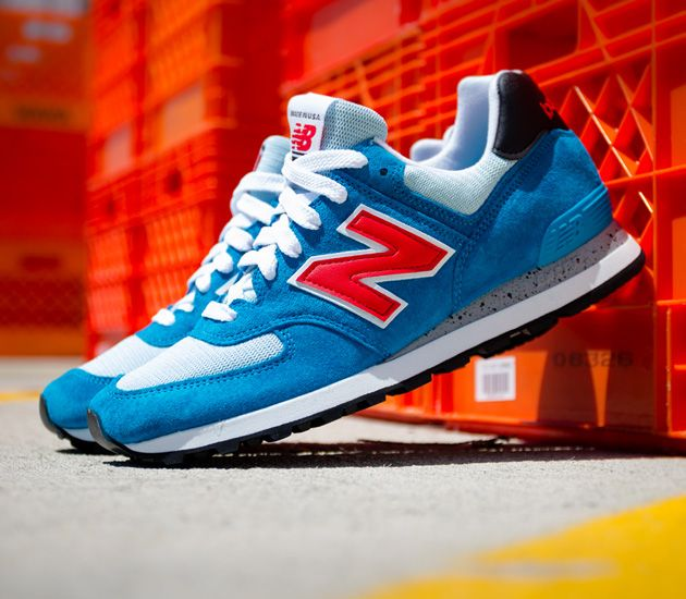 Authentic New Balance 574 Pique Polo Pack - Lifestyle Sneakers - Black/Blue/White