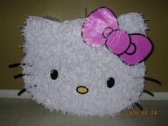 Como Hacer una Piñata de Cartón de Hello Kitty