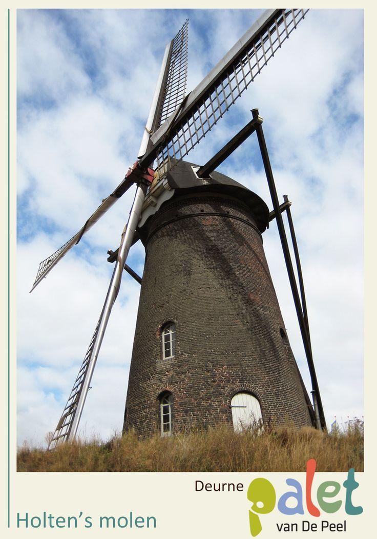 Holten's molen Deze molen zaagt hout, slaat olie en maalt graan. Leuk om eens een demonstratie bij te wonen, de ambachtelijke producten uit het winkeltje te proeven of met de kinderen op locatie pannenkoeken te bakken met het meel dat door de molen zelf is gemalen! - See more at: http://www.deurne-in-depeel.nl