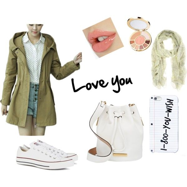 June date by mirjam-diaz-trujillo on Polyvore featuring moda, Converse, MARC BY MARC JACOBS and tarte
