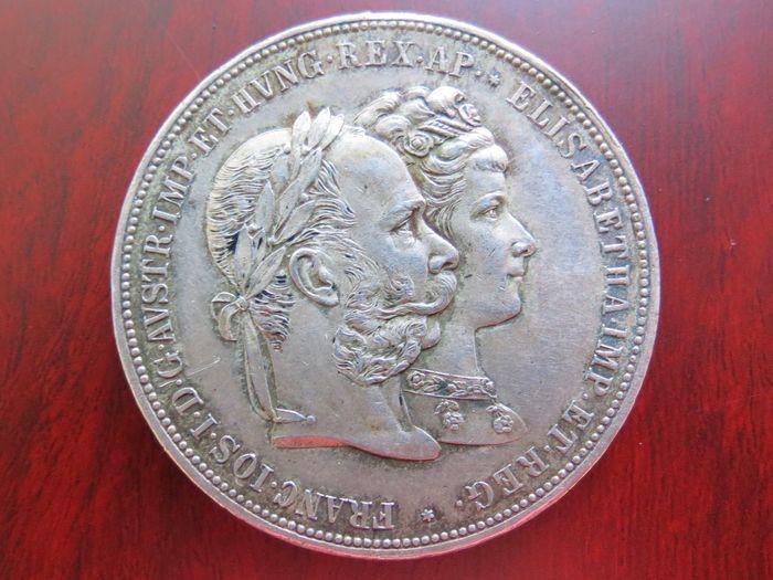 Catawiki, pagina di aste on line  Österreich, Haus Habsburg - 2 Gulden 1879 auf seine Silber-Hochzeit - Silber