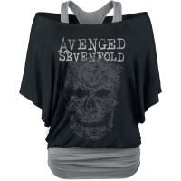Grey Skull - Girls shirt by Avenged Sevenfold - Article Number: 286693 - from 43.99 € - EMP Merchandising ::: The Heavy Metal Mailorder ::: Merchandise Shirts and More