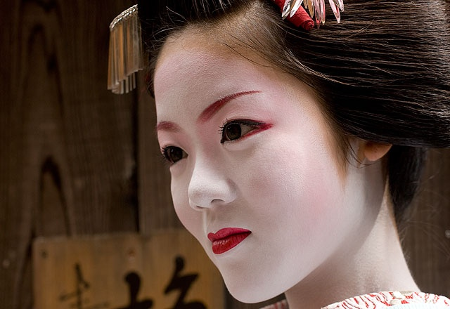 Catherine Sutherland travelled to Japan's ancient cultural capital, where the tradition of geisha (known in the city as geiko) is strongest. Kimichie-san, pictured here, was a maiko \u2013 an apprentice geiko.