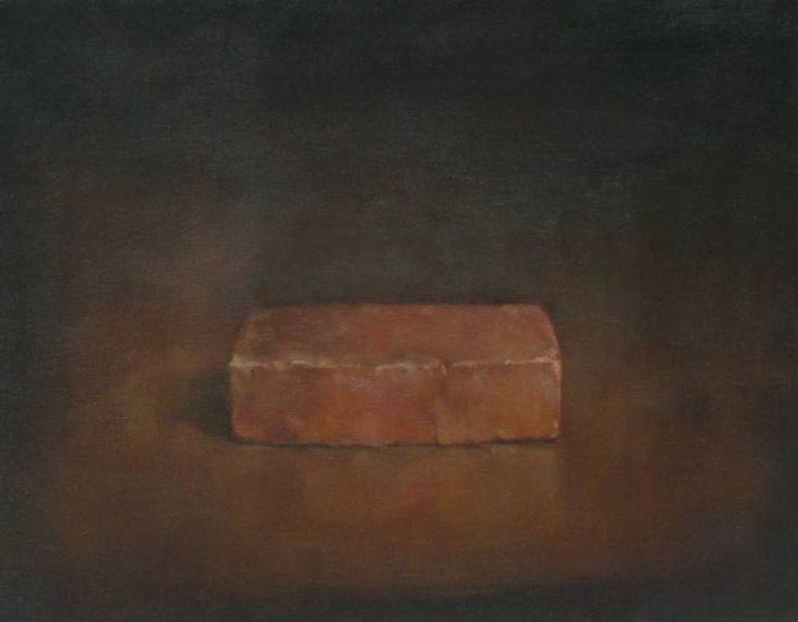 "Saatchi Art Artist Anne Herrero; Painting, ""Brick"" #art $300 US"
