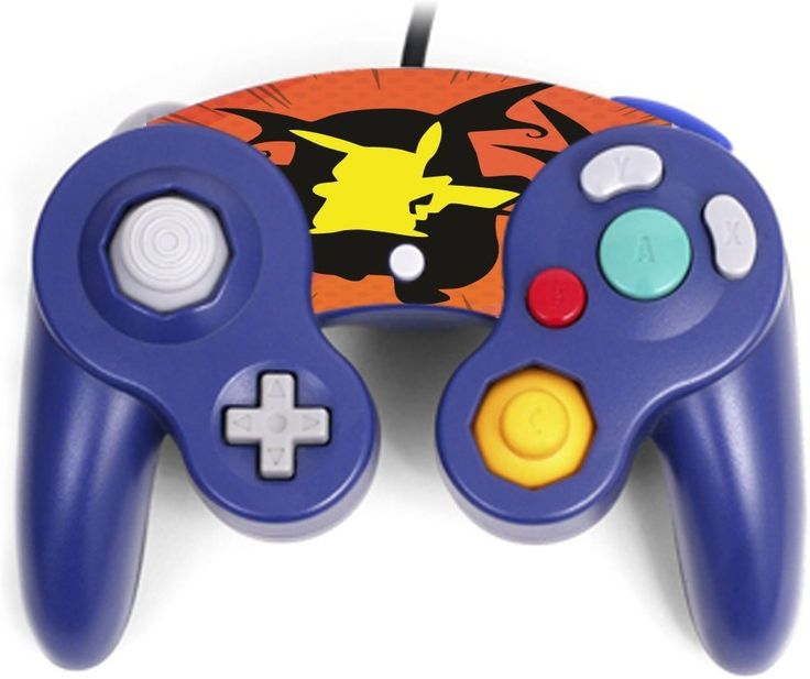 Pokemon Pikachu Raichu Evolution Silhouette Design Printed Image Artwork Gamecube Controller Vinyl Decal Sticker Skin by Trendy Accessories available at https://www.amazon.com/dp/B06XWS23BF #vinyldecalsticker #gamecube #gamingcontrolleraccessories #pokemon