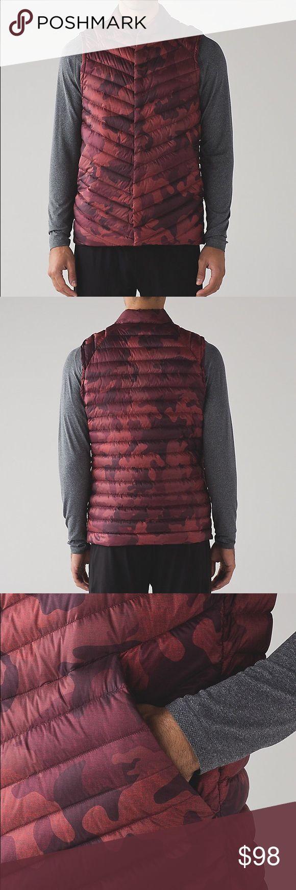NWT Lululemon Snap Down Vest Red Camo sz L NWT - FIRM lululemon athletica Jackets & Coats Vests