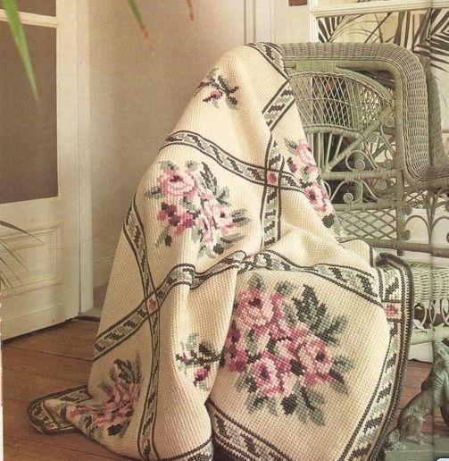Tunus tığ battaniye. Tunuslu tığ halı | 3vision - Moda blogu