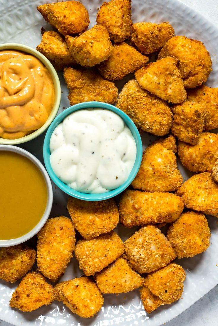 Airfryer chicken nuggets chicken nugget recipes healthy