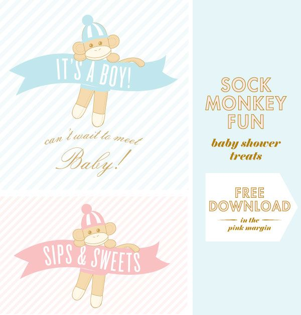 22 Best Images About Sock Monkey Baby Shower On Pinterest