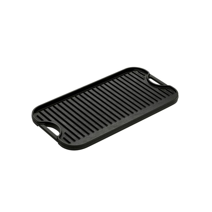 Lodge Logic Cast-Iron Reversible Grill & Griddle, Multicolor