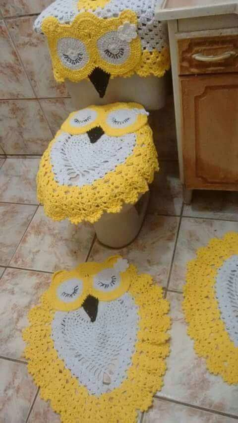 84 best crochet/knit/felt bathroom sets images on pinterest