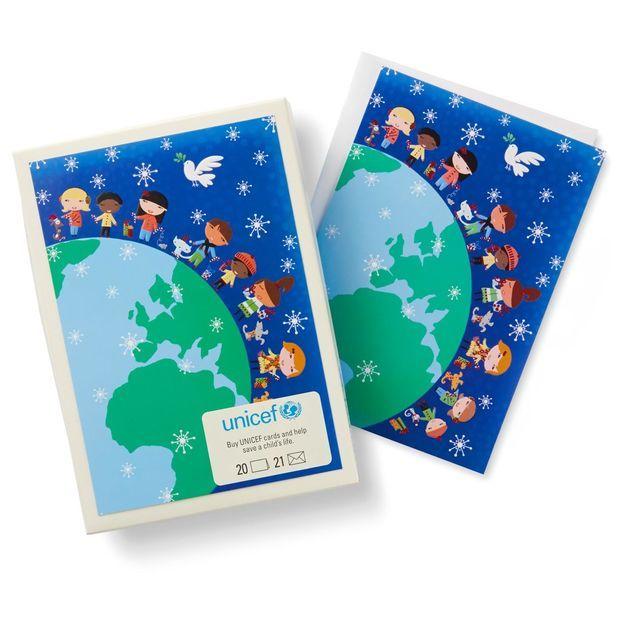UNICEF Children Around the World Christmas Cards, Box of 20