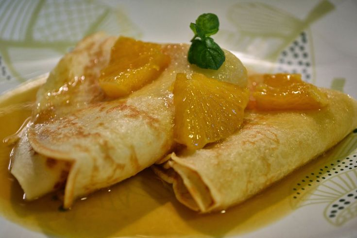 Palacinky s pomarančovým sirupom