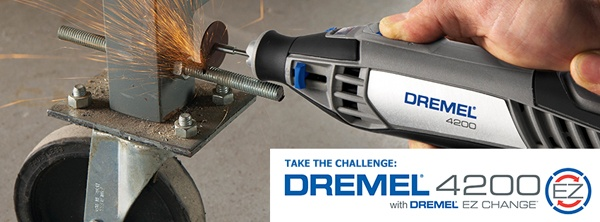 We dare you to challenge the Dremel 4200 to a project that highlights the EZ change feature!