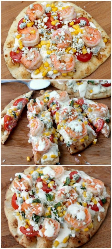 This Grilled Shrimp Pizza is SO easy to assemble and tastes like you ...