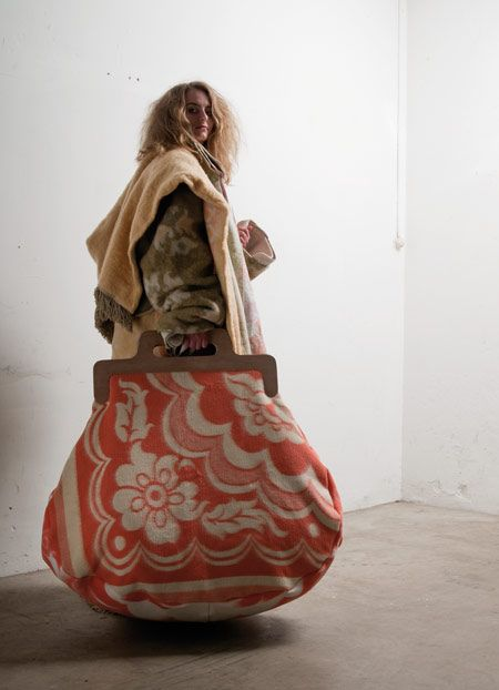 Giant Purse by Jo Meester - would make an amazing knitting bag even Mary Poppins would be proud of.