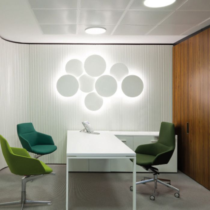 21 best wall arts by vibia images on pinterest sconces lighting puck wall art is a modular collection designed by jordi vilardell its made up of unique compositions of disk shaped wall lamps in two sizes producing an aloadofball Images