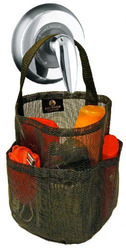 Simple Mesh Shower Tote Caddy All Black By Saltwater Canvas Http And Decorating Ideas