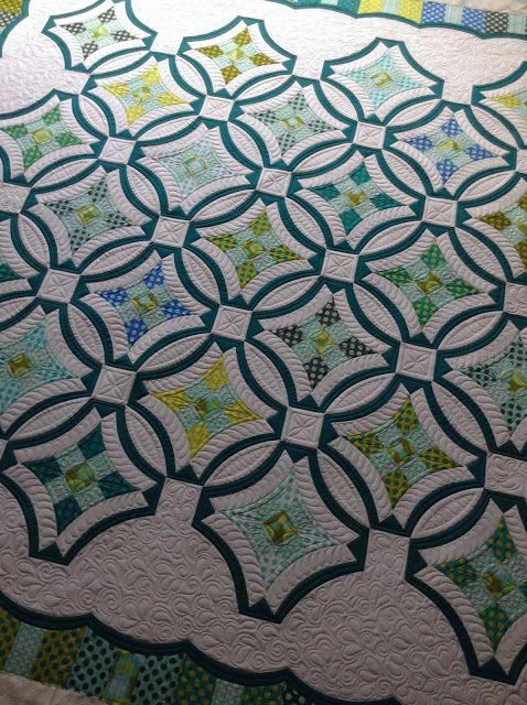 Sew Kind Of Wonderful: Urban 9 patch I love the quilting Jenny Pedigo did on the quilt I made! :D It is definitely one of my favorites.